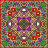 De traditionele sier bloemenbandana van Paisley Royalty-vrije Stock Afbeeldingen