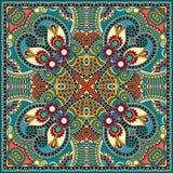 De traditionele sier bloemenbandana van Paisley Stock Afbeelding