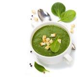 De traditionele soep van de Spinazie royalty-vrije stock afbeelding