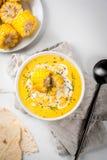 De traditionele soep van het de herfstgraan stock afbeelding