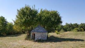 De traditionele structuur van Istrian van de steenhut kazun Royalty-vrije Stock Fotografie