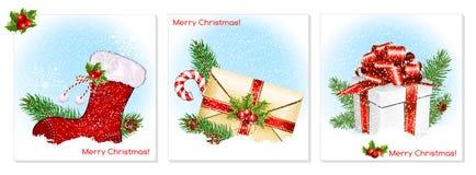 De traditionele symbolen van Kerstmis Stock Afbeelding