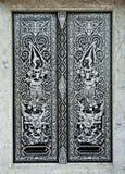 De traditionele Thaise deur van de stijlkerk Stock Afbeelding