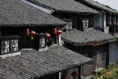 De traditionella byggnaderna Royaltyfria Bilder