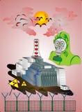 """De tragedie van de de kernenergieinstallatie van Tchernobyl van de gehele wereld â """"– 3 stock illustratie"""