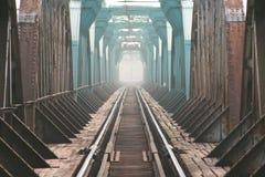 De trailroadbrug Royalty-vrije Stock Afbeeldingen