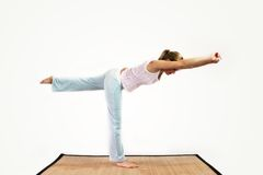 De training van de yoga stock foto