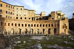 De Trajan-markt en het is ruïnes, Rome, Italië Stock Foto