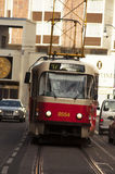 De tram komt Royalty-vrije Stock Fotografie