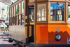 De Tram in Port DE Soller Mallorca stock fotografie