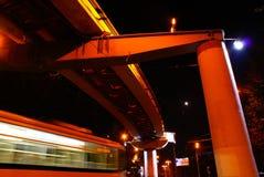 De tram reinigde in beweging Royalty-vrije Stock Fotografie