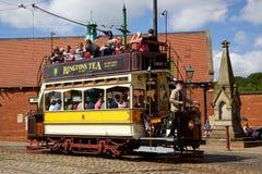 De Tram van Beamish Stock Afbeeldingen