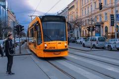De Tram van Boedapest royalty-vrije stock foto