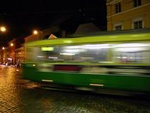 De tram van de nacht Royalty-vrije Stock Foto's