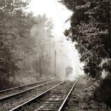 De tram van de ochtend Stock Afbeeldingen
