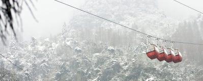 De Tram van de sneeuw Royalty-vrije Stock Foto