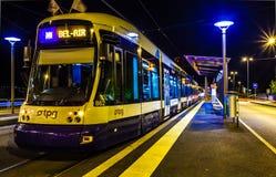 De Tram van Genève Stock Afbeeldingen