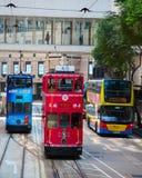 De Tram van Hongkong stock foto