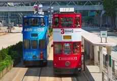 De Tram van Hongkong stock afbeeldingen