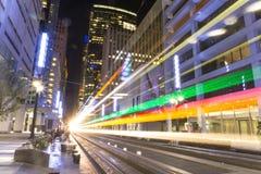 De tram van de tram in Houston royalty-vrije stock foto