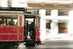 De tram van Istanboel van Taksim Stock Fotografie