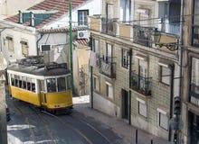 De Tram van Lissabon Stock Afbeeldingen