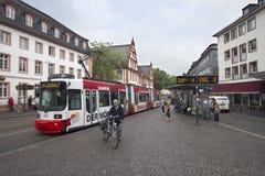 De Tram van Mainz stock foto's