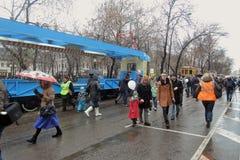 De Tram van Moskou vakantie 2016 Stock Afbeelding