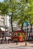 De Tram van Vancouver op vertoning in Gastown Stock Afbeelding