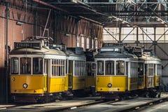 De Trams van Lissabon Stock Foto