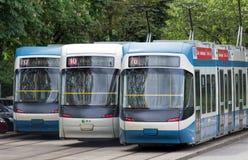 De trams van Zürich Royalty-vrije Stock Foto's