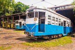 De tramsporen van Calcutta Stock Foto