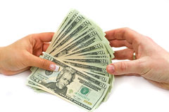 De transactie van dollars royalty-vrije stock afbeeldingen