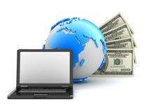 De transacties van het geld - abstracte illustratie Stock Afbeelding