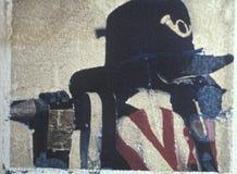 De transfert toujours la vie polaroïd du chapeau de soldat des syndicats de la reconstitution de guerre civile photos stock