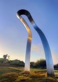 De transfiguratie heft beeldhouwwerk bij het Park Bondi van het Teken op Stock Foto