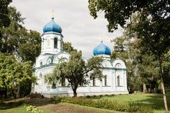 De Transfiguratie Orthodoxe Kerk van Christus van Cesis stock foto
