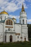 De Transfiguratiekathedraal in Chernihiv ukraine stock foto