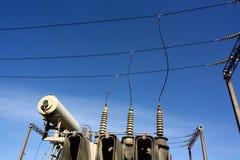 De transformator van de elektriciteit stock afbeelding