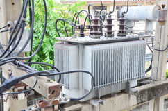 De transformator van de Elelectricitydistributie. Stock Foto's