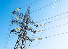 De transmissie aan elektroenergie. Stock Afbeeldingen