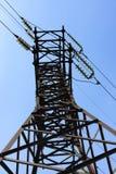De transmissielijn van de macht Stock Afbeeldingen
