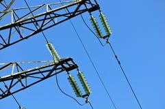De transmissielijnen van de macht Stock Afbeelding