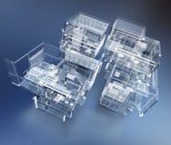 De transparante bouw royalty-vrije illustratie