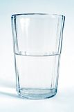 De transparante kop van het glas met water royalty-vrije stock foto's