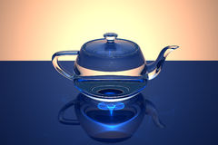 De transparante theepot van het glas Royalty-vrije Stock Foto