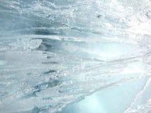 De transparante winter van de ijstextuur Stock Afbeelding