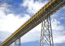 De Transportband van de Fabriek van het cement Royalty-vrije Stock Foto's