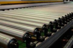 De transportband van de staalrol Royalty-vrije Stock Fotografie