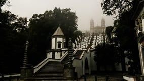 De trap aan Santuario do Bom Jesus doet Monte, Braga, Portugal royalty-vrije stock afbeelding
